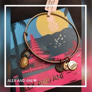 🆕Alex&Ani ColorInfusion Pineapple Charm Bracelet